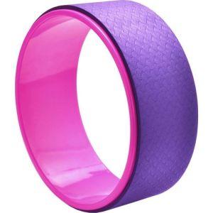 Τροχός Yoga & Pilates Wheel Μωβ - Ροζ 33 x 13 x 0.6 cm