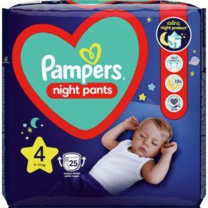 Pampers Night Pants No 4 Πάνες Βρακάκι Νυκτός Μέγεθος 4 (9kg-15kg) 25τμχ