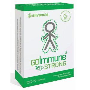 Uplab Silvanols GoImmune Strong Φόρμουλα Βιταμινών & Μετάλλων για τη Φυσιολογική Λειτουργία του Ανοσοποιητικού Συστήματος 20 Κάψουλες