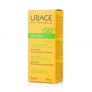 Uriage Bariesun Mat Fluide SPF50+ Αντηλιακή Προσώπου για Λιπαρό Δέρμα 50ml