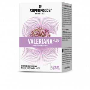 Superfoods Valeriana Plus Συμπλήρωμα Διατροφής 50Caps