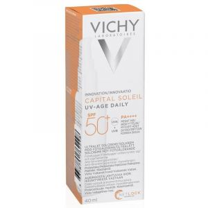 Vichy Capital Soleil SPF50+ Uv-Age Daily Αντιηλιακή Προσώπου Κατά Της Φωτογήρανσης 40ml