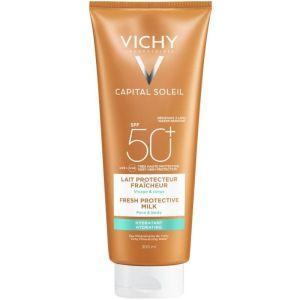 Vichy Capital Soleil Fresh Protective Milk SPF50+ Αντιηλιακό Γαλάκτωμα Για Πρόσωπο & Σώμα 300ml