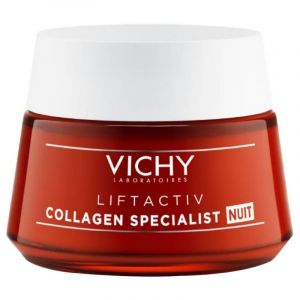 Vichy Liftactiv Collagen Specialist Night Κρέμα Νύχτας Με Αντιρυτιδική Δράση Για Σύσφιξη & Λάμψη 50ml