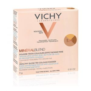 Vichy Mineral Blend Tri-Colour Powder Tan 9gr - Τρίχρωμη Πούδρα Για Φυσική Λάμψη