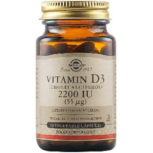 Solgar Vitamin D3 2200IU Βιταμίνη D3 50 Φυτικές Κάψουλες