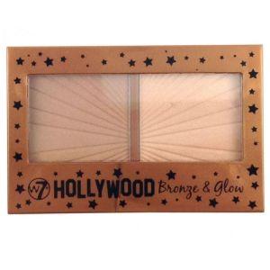 W7 Hollywood Bronze & Glow Διπλή Παλέτα Με Highlighter & Bronzer 13gr