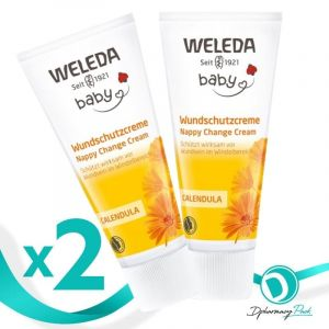 Weleda Πακέτο Promo Set Baby Calendula Nappy Change Cream Σετ Κρέμα Καλέντουλας Για Αλλαγή Πάνας 2x75ml