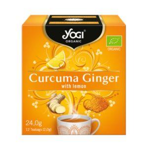 Yogi Organic Tea Curcuma Ginger With Lemon Τσάι Με Κουρκουμά, Τζίντζερ & Λεμόνι Για Ενέργεια & Τόνωση 12φακελάκια