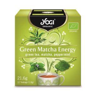 Yogi Organic Tea Green Matcha Energy Πράσινο Τσάι, Μάτσα & Μέντα Για Ενέργεια & Τόνωση 12φακελάκια