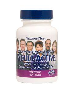 Natures Plus Adult-Active Φόρμουλα Για Την Ενίσχυση Των Εγκεφαλικών Λειτουργιών 60 Ταμπλέτες