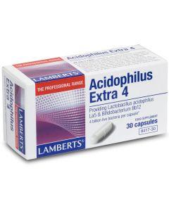 Lamberts Acidophilus Extra 4 - Προβιοτικά Για Τη Διατήρηση Της Ισορροπίας Της Εντερικής Χλωρίδας 30caps