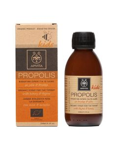 Apivita Propolis Kids Βιολογικό Σιρόπι Για Το Λαιμό Με Μέλι & Θυμάρι 150ml