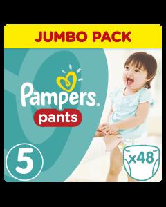 Pampers Pants Jumbo Pack No 5 (12-17Kg) Βρεφικές Πάνες - Βρακάκι 48 Τμχ