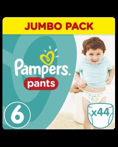 Pampers Pants Jumbo Pack No 6 Extra Large (15Kg+) Βρεφικές Πάνες - Βρακάκι 44 Τμχ