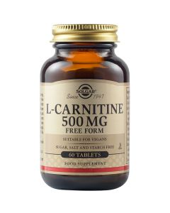 Solgar L-Carnitine Free Form 500mg L- Καρνιτίνη Για Την Ομαλή Λειτουργία Του Μεταβολισμού 60 Φυτικές Ταμπλέτες