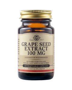 Solgar Grape Seed Extract 100mg Με Ισχυρές Αντιοξειδωτικές Ιδιότητες 30 Φυτικές Κάψουλες