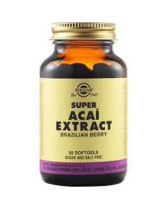 Solgar Super Acai Extract Αντιοξειδωτική Δράση - Ευεξία Οργανισμού 50 Μαλακές Κάψουλες