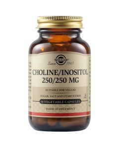 Solgar Choline-Inositol 250/ 250mg Συμπλήρωμα Διατροφής Με Χολίνη & Ινοσιτόλη Για Απομάκρυνση Του Λίπους Από Το Ήπαρ 50 Φυτικές Κάψουλες