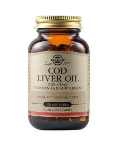 Solgar Cod Liver Oil Μουρουνέλαιο 100 Softgels - Μαλακές Κάψουλες