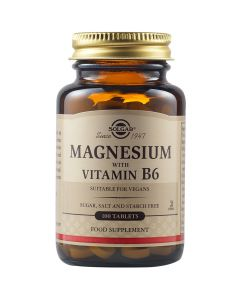 Solgar Magnesium Φόρμουλα Με Μαγνήσιο & Βιταμίνη B6 Για Ενέργεια & Μείωση Του Στρες 100 Φυτικές Ταμπλέτες