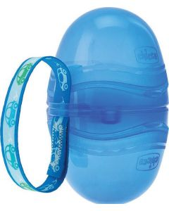 Chicco Double Soother Holder Διπλη Θηκη Πιπιλας Σε Χρωμα Μπλε 0Μ+ 1 Τμχ Cod.00007264800000