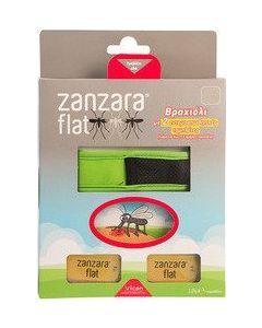 Vican Zanzara Flat Εντομοαπωθητικό Βραχιόλι Πράσινο M/L & 2 Ανταλλακτικές Εντομοαπωθητικές Ταμπλέτες