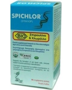 Medichrom Spichlor Συμπληρωμα Σπιρουλινας & Χλωρελλας Spirulina & Chlorella 30 Tabs
