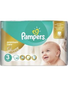 Pampers Premium Care No3 (5-9Kg) 40 Βρεφικές Πάνες