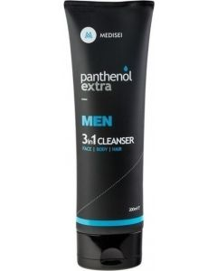 Medisei Panthenol Extra Ανδρικό Προϊόν Καθαρισμού 3 Σε 1 Για Πρόσωπο Σώμα &  Μαλλιά 200 ml