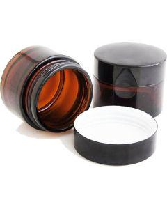 Βαζάκι Γυάλινο Με Καπάκι Καφέ Χρώμα 30ml