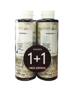 Korres Γιαούρτι Αφρόλουτρο 1+1 Δώρο 2X250 ml