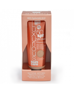 Intermed Luxurious Sun Care Face Tinted Bb Cream Silk Cover Spf50 Natural Beige Αντιηλιακό Με Χρώμα & Υαλουρονικό Οξύ 75ml