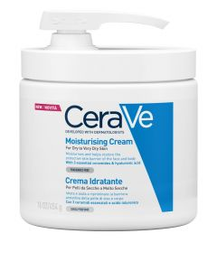 Cerave Moisturizing Cream For Dry To Very Dry Skin Ενυδατική Κρέμα Με Αντλία 454GR