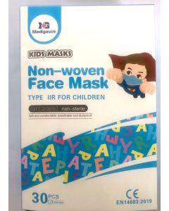 Medigauze Χειρουργικές Παιδικές Μάσκες Non-Woven BFE>98% 30 τμχ