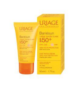 Uriage Bariesun Creme Teintee Claire SPF50 Αντηλιακή Κρέμα Προσώπου με Χρώμα Ανοιχτής Απόχρωσης 50ml