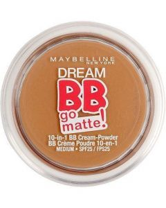 Maybelline Dream Bb Go Matte 10 In 1 Cream Powder Foundation Medium Make-Up 11 G
