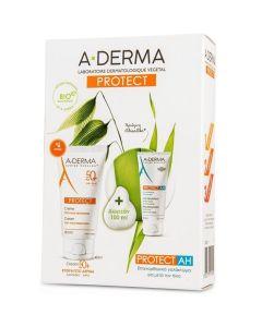 A-Derma Protect Πακέτο Promo Set Σετ Αντιηλιακή Κρέμα Προσώπου SPF50+ Για Κανονικές & Ξηρές Επιδερμίδες 40ml & Δώρο Επανορθωτικό Γαλάκτωμα Για Μετά Τον Ήλιο 100ml