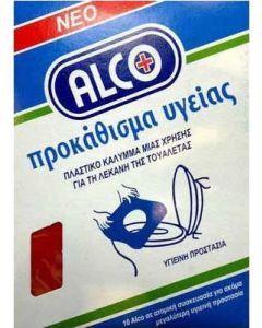 Alco Προκάθισμα Υγείας Πλαστικό Κάλυμμα Μιας Χρήσης Για Τη Λεκάνη Της Τουαλέτας 10 Τεμάχια