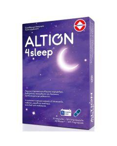Altion 4 Sleep Φόρμουλα με Εκχυλίσματα Χαμομηλιού, Βαλεριάνα, Πασιφλόρα, Λυκίσκο & Μελατονίνη για την Ποιότητα του Ύπνου 30 Κάψουλες