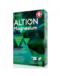 Altion Magnesium 375mg Φόρμουλα με Μαγνήσιο & Βιταμίνες Β1, Β6 & Β12 για τη Φυσιολογική Λειτουργία του Μυϊκού & Νευρικού Συστήματος 30 Δισκία