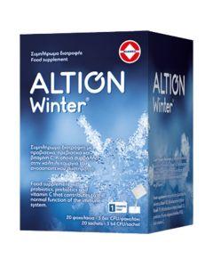 Altion Winter Φόρμουλα Με Προβιοτικά & Βιταμίνη C για την Ενίσχυση του Ανοσοποιητικού Συστήματος 20 Φακελάκια