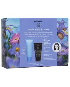 Apivita Πακέτο Promo Set Aqua Beelicious Σετ Oil-Free Κρέμα-Gel Ενυδάτωσης Ελαφριάς Υφής 40ml & Δώρο Μαύρο Gel Καθαρισμού- Πρόσωπο & Μάτια 50ml & Κορδέλα Μαλλιών Για Τη Ρουτίνα Ομορφιάς