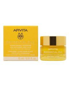 Apivita Beessential Oils Balm Προσώπου Νύχτας Συμπλήρωμα Ενδυνάμωσης & Θρέψης 15ml