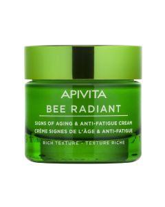 Apivita Bee Radient Κρέμα για Σημάδια Γήρανσης & Ξεκούραστη Όψη Πλούσιας Υφής 50ml