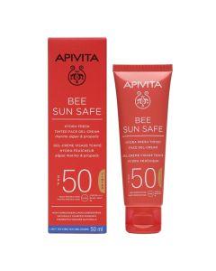 Apivita Bee Sun Safe Tinted Ενυδατική Κρέμα-Gel Προσώπου Με Χρώμα SPF50 50ml