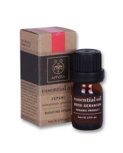 Apivita Essential Oil Geranium Αιθέριο Έλαιο Γεράνι 5ml