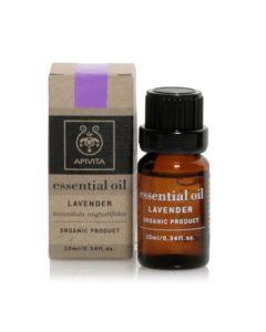 Apivita Essential Oil Lavender Αιθέριο Έλαιο Λεβάντα 10ml