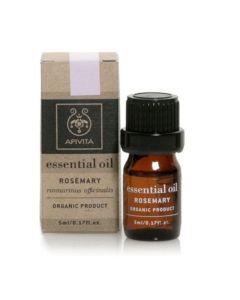 Apivita Essential Oil Rosemary Αιθέριο Έλαιο Δενδρολίβανο 5ml