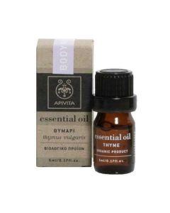 Apivita Essential Oil Thyme Αιθέριο Έλαιο Θυμάρι 5ml